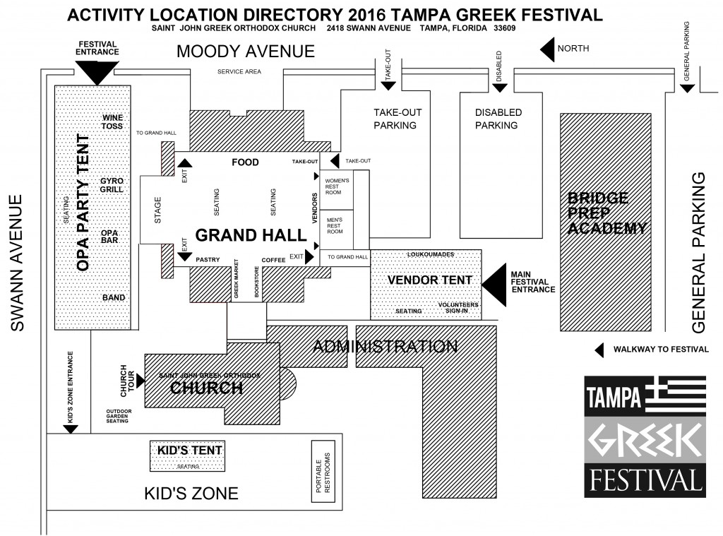 Tampa Greek Festival Map